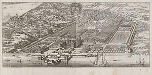 Karlberg Palace - De la Gardie's palace according to Suecia Antiqua et Hodierna, 1690-1710.
