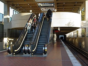 Suitland, Maryland - The Suitland Metro station in October 2006.