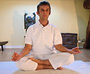 Ardha Padmasana or Half Lotus pose is an intermediate seated posture
