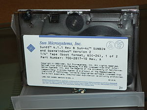 Quarter-inch cartridge - SunOS 4.1.1 QIC-24 tape.
