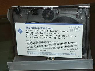 Quarter-inch cartridge - SunOS 4.1.1 QIC-24 tape.