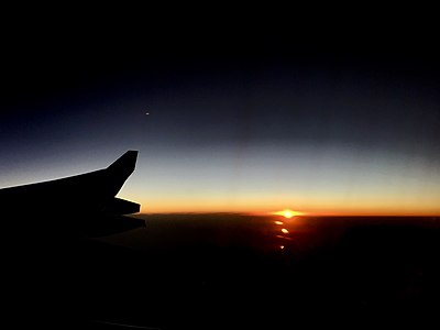 Sunrise seen from Delhi - Moscow aircraft (October 2018) 3.jpg