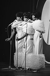 The Supremes, Florence Ballard, Mary Wilson und Diana Ross, (1965), (v. l. n. r.)