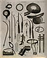 Surgical instruments. Engraving by Andrew Bell. Wellcome V0016372.jpg