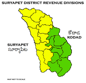 Suryapet district - Suryapet District Revenue divisions