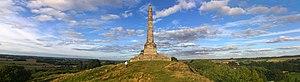 Lilleshall - Image: Sutherland Monument Lilleshall Panorama
