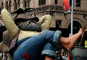 Swagman - Swagman float at the 2008 Adelaide Christmas Pageant