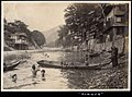 Swimming at river in the summer of Japan (1915 by Elstner Hilton).jpg