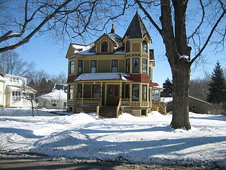 Houses in Sycamore Historic District - Queen Anne home at 512 S. Main Street.