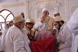 Syedna Muffadal at Nikah ceremony.JPG