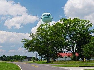 Sylvania, Alabama - Sylvania Rams water tower