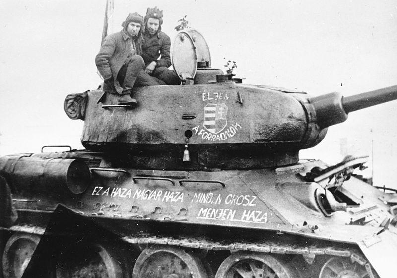 Russischer Panzer in Budapest