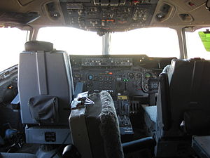 DC-10 Air Tanker - Inside view of Tanker 910's cockpit