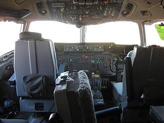 DC-10 Air Tanker - Inside view of Tanker 910's cockpit