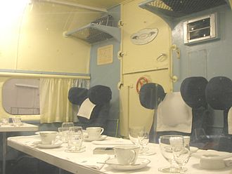 History of Air New Zealand - Interior of a preserved TEAL Short Solent flying boat
