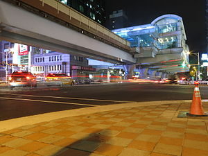 TRTC Daan Station in the nighttime.JPG