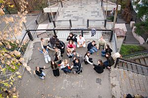 350.org - International Day of Climate Action. Taganrog, Rostov Region, Russia. October 24, 2009