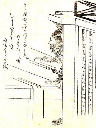 Taira no Tadanori - Tadanori by Kikuchi Yōsai