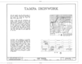 Tampa Ironwork, Tampa, Hillsborough County, FL HABS FLA,29-TAMP,17- (sheet 1 of 3).png