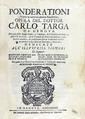 Targa - Ponderationi sopra la contrattatione maritima, 1692 - 417.tif