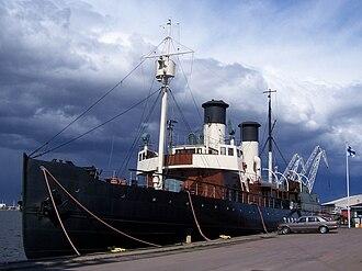 Tarmo (1907 icebreaker) - SS Tarmo in the port of Kotka