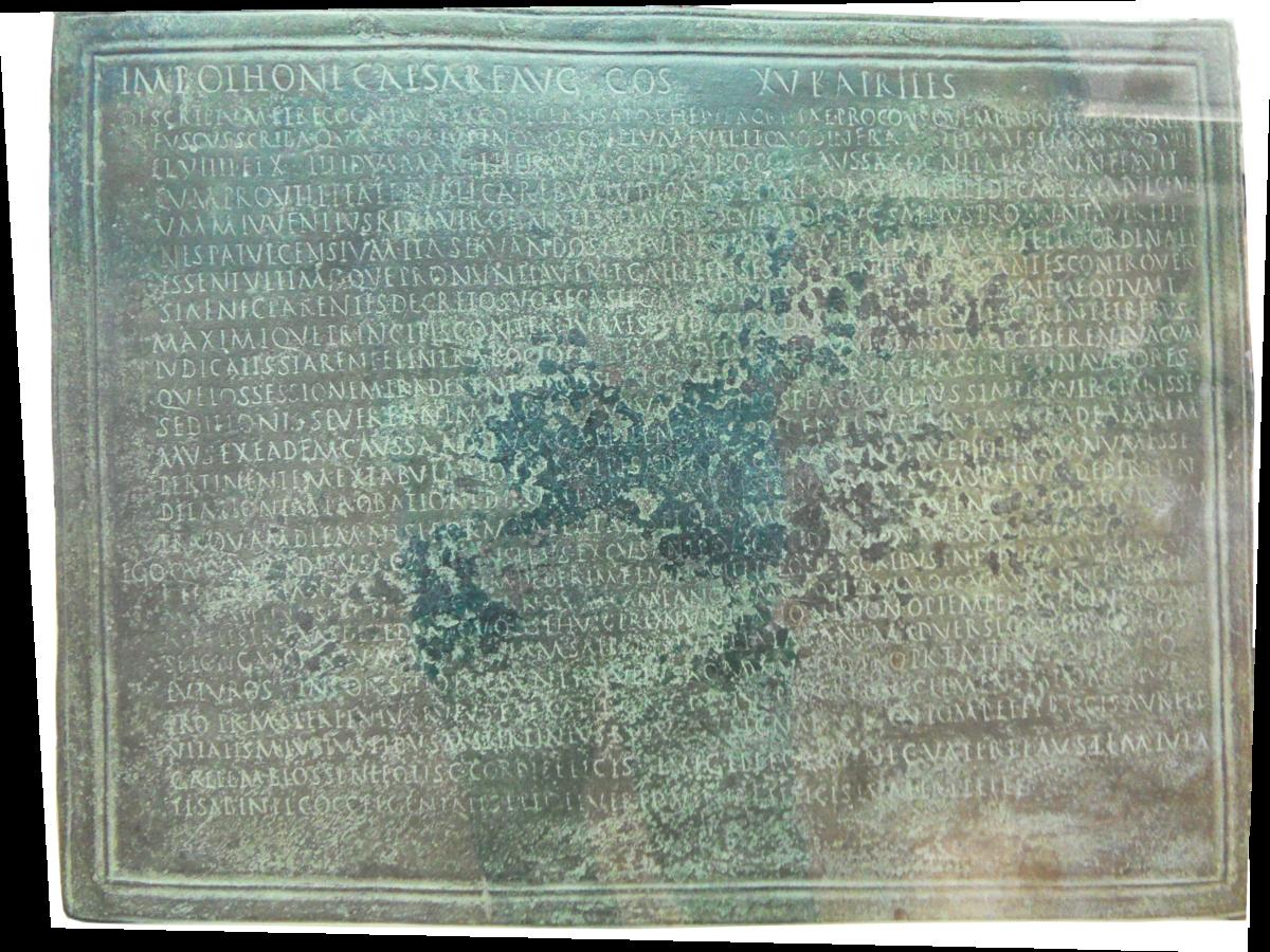 Tavoletta Di Bronzo.Tavola Di Esterzili Wikipedia