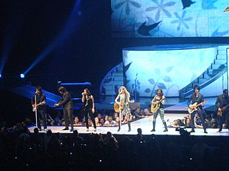 Fearless (Taylor Swift album) - Swift performing the album's title track during a concert on the Fearless Tour.