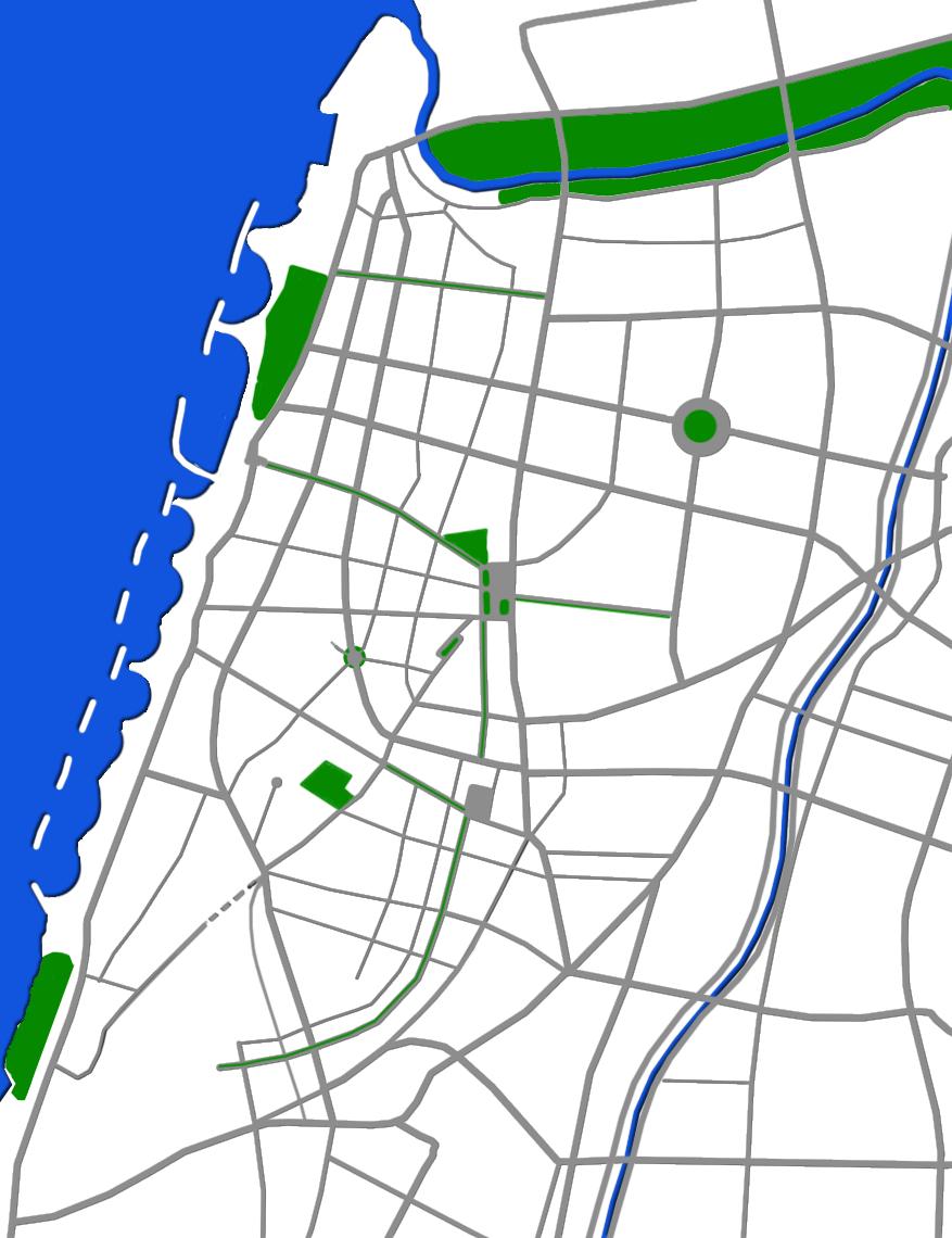 Tel Aviv map-plain