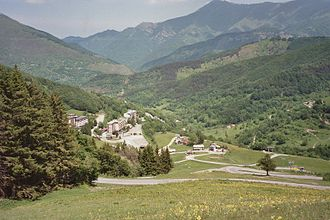 Col de Tende - Switchbacks on the pass road
