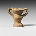 Terracotta miniature jar with two handles MET DP121683.jpg