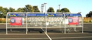 Tesco shopping trolley shelter