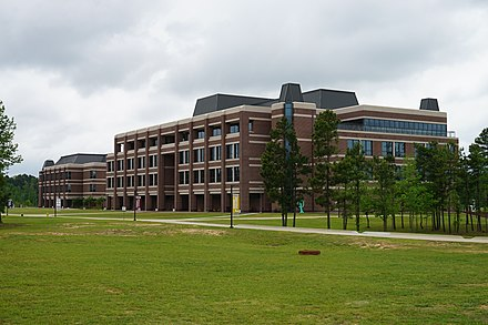 The University Center and the Science & Technology Building at A&M-Texarkana Texas A&M University-Texarkana April 2016 08 (University Center and Science & Technology Building).jpg
