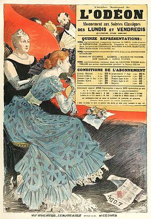 Odéon-Théâtre de l'Europe - Eugène Grasset poster, 1890