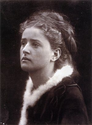 The Angel in the House - Julia Margaret Cameron's photograph The Angel in the House