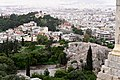 The Areopagus, the Church of St. Marina and the National Observatory of Athens from the Pedestal of Agrippa on February 6, 2020.jpg