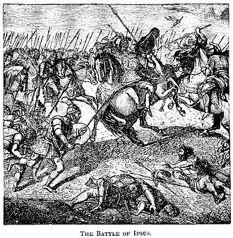 Battle of Ipsus - The Battle of Ipsus in 301 BC. 19th century engraving.