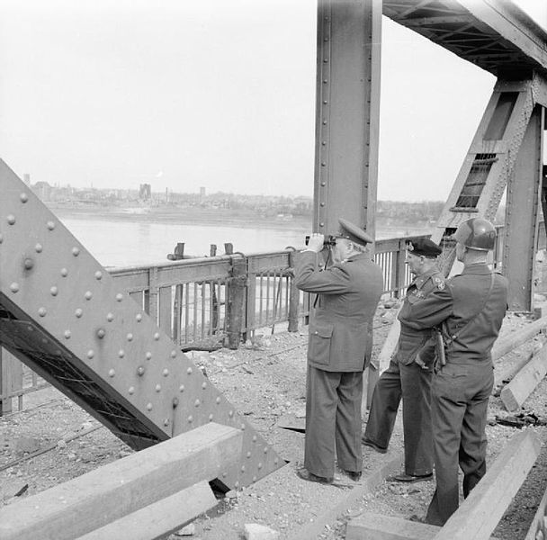 File:The British Army in North-west Europe 1944-45- the Prime Minister Crosses the Rhine BU2258.jpg
