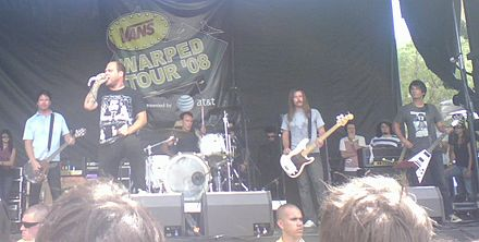 b6f4f79713 The Bronx performing on the 2008 Warped Tour.