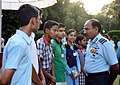 The Chairman Chiefs of Staff Committee (COSC) and Chief of the Air Staff, Air Chief Marshal Arup Raha interacting with the participants of Air Force Declamation Contest 2014, in New Delhi on August 26, 2014.jpg