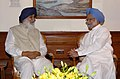The Chief Minister of Punjab, Shri Parkash Singh Badal calling on the Prime Minister, Dr. Manmohan Singh, in New Delhi on June 02, 2009.jpg