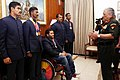 The Chief of Army Staff, General Bipin Rawat interacting with the Army Paralympic Athletes Asian Games – 2018, in New Delhi on October 16, 2018.JPG