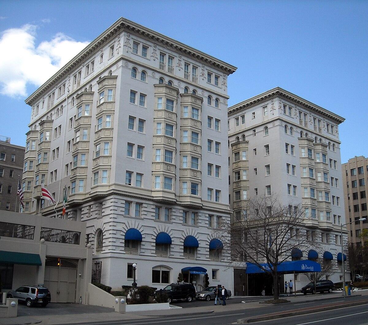 Churchill Hotel Near Embaby Row Washington Dc