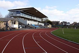 The Grandstand at the Sir Roger Bannister running track.jpg