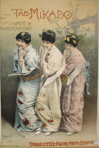 1885 in music - Image: The Mikado Three Little Maids