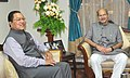 The Minister of State for Environment, Forest and Climate Change (Independent Charge), Shri Anil Madhav Dave meeting the Chief Minister of Mizoram, Shri Lal Thanhawla, in Aizawl on September 27, 2016.jpg