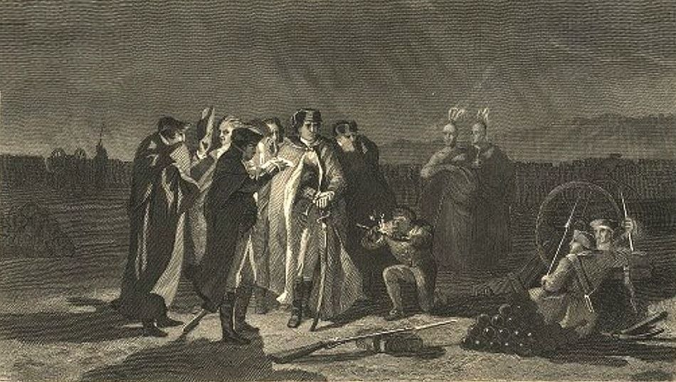 The Night Council At Fort Necessity from the Darlington Collection of Engraving- detail