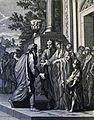 The Phillip Medhurst Picture Torah 106, Abimelech restores Sarah. Genesis cap 20 v 14. Caspar Luyken.jpg