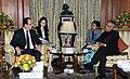 The President of the Republic of France, Mr. Francois Hollande meeting the President, Shri Pranab Mukherjee, in New Delhi on February 14, 2013.jpg