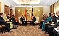The Prime Minister, Dr. Manmohan Singh with the Deputy Prime Minister of Malaysia, Tan Sri Dato' Haji Muhyiddin Bin Mohd. Yassin, in Kuala Lumpur, Malaysia on October 28, 2010.jpg