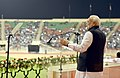 The Prime Minister, Shri Narendra Modi addressing the Indian community, at Sultan Qaboos Sports Complex, in Muscat, Oman on February 11, 2018 (1).jpg